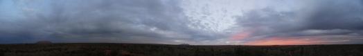 Sunset in Uluru National Park
