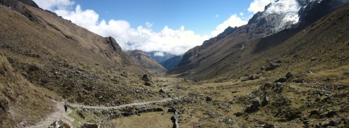 Descending down into Machu Piccu